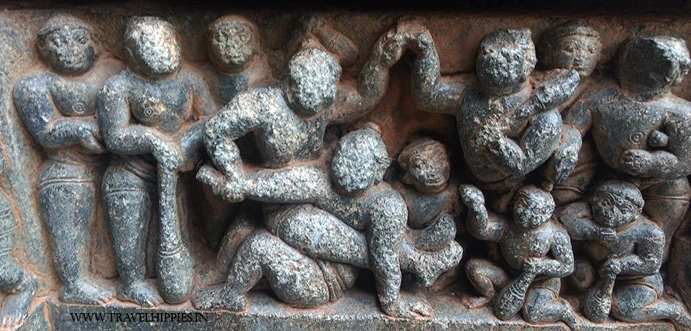 Chennakesava Temple of Somanathapura - Kushti Scene